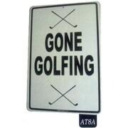"Seaweed Surf Co 12"" x 18"" Aluminum Sign ""Gone Golfing"", White (SURF166)"