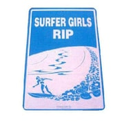 "Seaweed Surf Co Surfer Girls Rip Sign, 18""H x 12""W, Blue Aluminum (SURF019)"