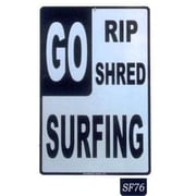 "Seaweed Surf Co 12"" x 18"" Aluminum Sign ""Go Surfing"" (SURF076)"