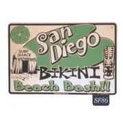 "Seaweed Surf Co San Diego Beach Bash Aluminum Sign, 18""W x 12""L (SURF086)"