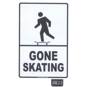 "Seaweed Surf Co Gone Skating Aluminum Sign, 12""W x 18""H (SURF129)"