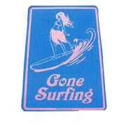 """Seaweed Surf Co 12"""" x 18"""" Aluminum Sign """"Gone Surfing"""", Blue (SURF047)"""