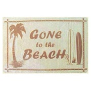 Seaweed Surf Co SF12 12X18 Aluminum Sign Gone To The Beach