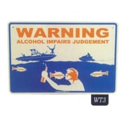 "Seaweed Surf Co Warning Alcohol Aluminum Sign, 12""L x 18""W (SURF153)"