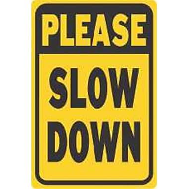 Hy-Ko Products Please Slow Down Sign, 12