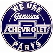 "Smart Blonde ""We Use Genuine Chevrolet Parts"" Circular Sign (SMRTB046)"