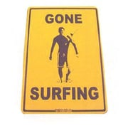 "Seaweed Surf Co 12"" x 18"" Aluminum Sign ""Gone Surfing"" (SURF037)"