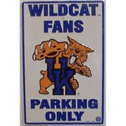 """Smart Blonde """"Kentucky Wildcats Fans Parking Only"""" Parking Sign (SMRTB208)"""