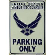 """Smart Blonde Air Force Parking Only Sign, 12""""L x 8""""W (SMRTB1436)"""