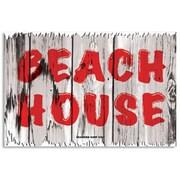 "Seaweed Surf Co 12"" x 18"" Aluminum Sign ""Beach House"" (SURF284)"
