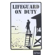 "Seaweed Surf Co Lifeguard On Duty Aluminum Sign, 18""L x 12""W (SURF066)"