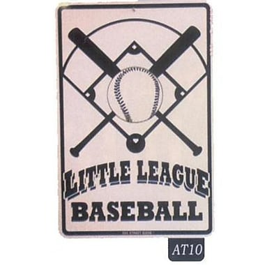 Seaweed Surf Co AT10 12X18 Aluminum Sign Little Baseball League