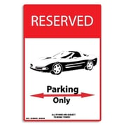 "Seaweed Surf Co Corvette Parking Only Aluminum Sign 12""W x 18""H (SURF270)"