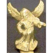 Mayer Mill Brass Angel With Violin Stocking Hook (MYRMB220)