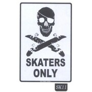 Seaweed Surf Co SK11 12X18 Aluminum Sign Skaters Only
