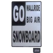 "Seaweed Surf Co 12"" x 18"" Aluminum Sign ""Go Snowboard"" (SURF137)"