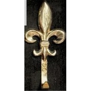 "Mayer Mill Brass Fleur De Lis Hook, Large, 7.5"" x 3"" x 1.75"" (MYRMB148)"
