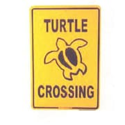 "Seaweed Surf Co Turtle Crossing Sign, 18""H x 12""W, Aluminum (SURF052)"