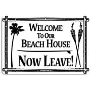 "Seaweed Surf Co Sign Welcome to Our Beach House Sign, 12""H x 18""W, Aluminum (SURF226)"