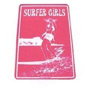 "Seaweed Surf Co Surfer Girls Aluminum Sign, 12""W x 18""H, Purple (SURF035)"