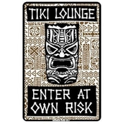 "Seaweed Surf Co ""Tiki Lounge Enter at Own Risk"" Sign (SURF299)"