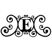 "Village Wrought Iron Letter E House Plaque, 24""W x 11""H, Black (VW1115)"
