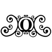 Village Wrought Iron Letter O House Plaque, Black (VW1145)