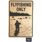 "Seaweed Surf Co Flyfishing Only Sign, 18""H x 12""L, Aluminum (SURF172)"