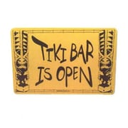 "Seaweed Surf Co Tiki Bar Is Open Aluminum Sign, 12""W x 18""H (SURF058)"