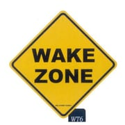 "Seaweed Surf Co WT6 12""L x 18""H Aluminum Sign Wake Zone (SURF156)"