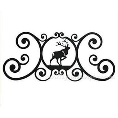 Village Wrought Iron Elk Over-Door Plaque (VW995)