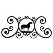 Village Wrought Iron Horse Over-Door Plaque (VW997)
