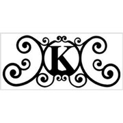 "Village Wrought Iron Letter ""K"" House Plaque (VW1008)"