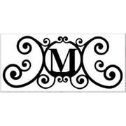 Village Wrought Iron Letter M House Plaque (VW1010)