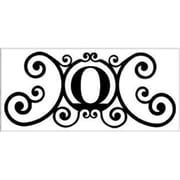 "Village Wrought Iron Letter ""O"" House Plaque (VW1012)"