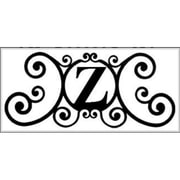 Village Wrought Iron Letter Z House Plaque (VW1023)