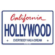 Seaweed Surf Co AA54 12X18 Aluminum Sign Hollywood