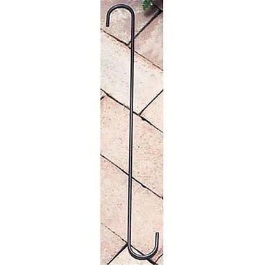 Village Wrought Iron 18in S-Hook with 1.5in Openings, Black (VW1469)