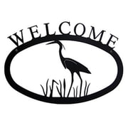 Village Wrought Iron Heron Welcome Sign, Large (VW1565)