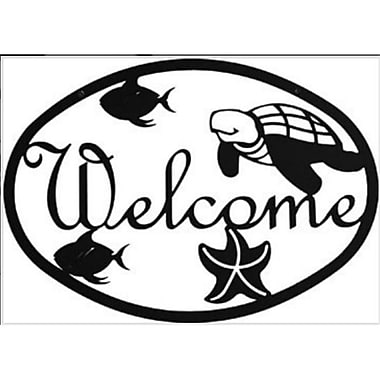 Village Wrought Iron Ocean Welcome Sign, Medium (VW1585)