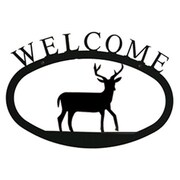 Village Wrought Iron Deer Welcome Sign, Large (VW1604)