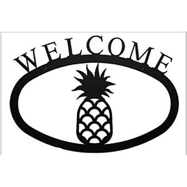 Village Wrought Iron Pineapple Welcome Sign, Large (VW1606)