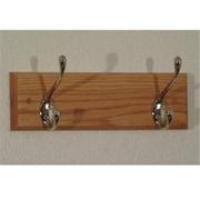 Wooden Mallet Double-Hook Coat Rack in Light Oak/Nickel (WDNM194)