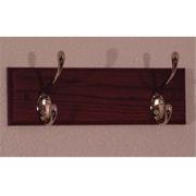 Wooden Mallet 2 Hook Coat Rack in Mahogany, Nickel (WDNM195)