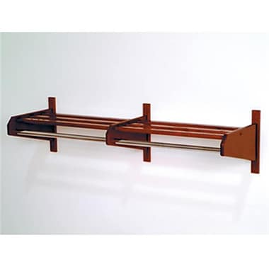 Wooden Mallet 48DCRMH 48 in. Oak Coat and Hat Rack in Mahogany