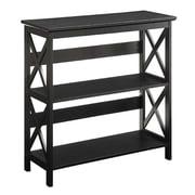 Convenience Concepts Oxford 3 Tier Bookcase, Black Finish (RTL52427)