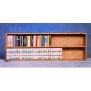 "Wood Shed Solid Oak Wall or Shelf Mount Cabinet, 52""W x 18""H x 5.5""D, Honey Oak (WDSP057)"