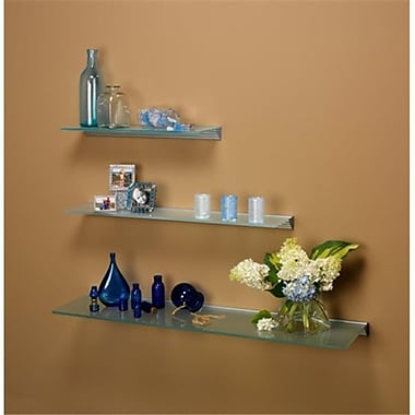 Amore Designs Glace Clear Glass Shelf, 8