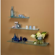 Amore Designs GCE836CL Glace Clear Glass Shelf, 8 x 36 in.