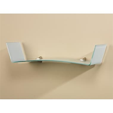 Amore Designs Concepts Mirage Shelf, Opaque Glass, 8